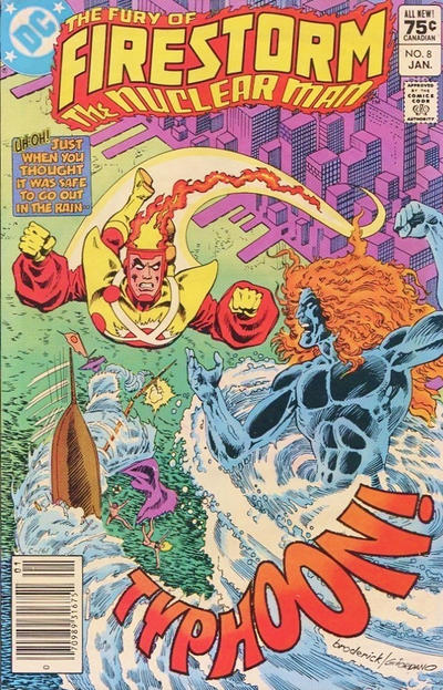 Cover for The Fury of Firestorm (1982 series) #8 [Canadian newsstand]