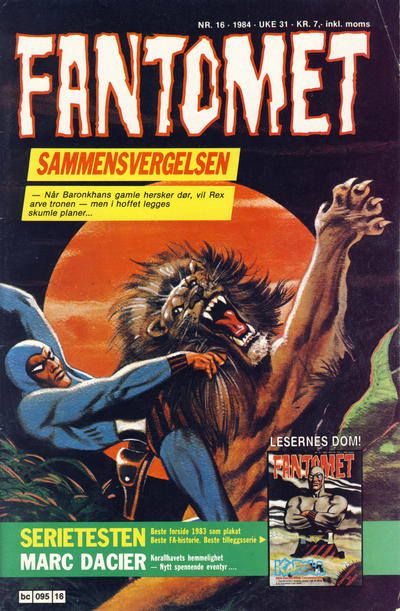 Cover for Fantomet (Semic, 1976 series) #16/1984