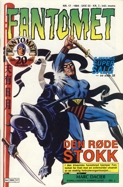Cover for Fantomet (Semic, 1976 series) #17/1984