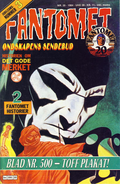 Cover for Fantomet (Semic, 1976 series) #20/1984