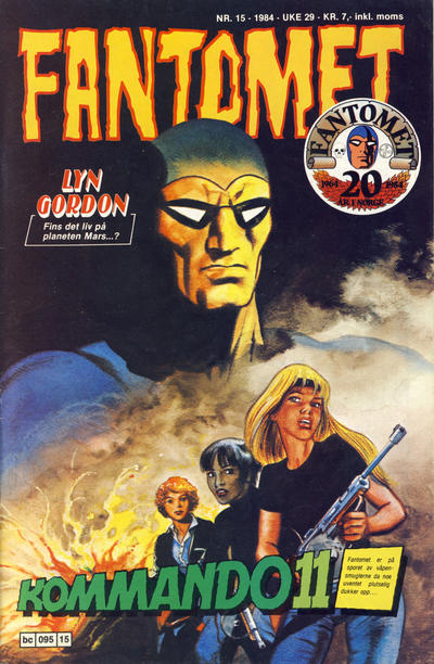Cover for Fantomet (Semic, 1976 series) #15/1984
