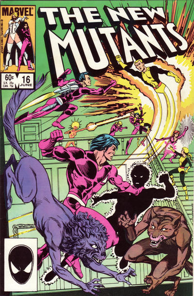 Cover for The New Mutants (Marvel, 1983 series) #16 [Direct Edition]