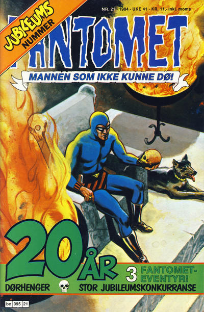 Cover for Fantomet (1976 series) #21/1984