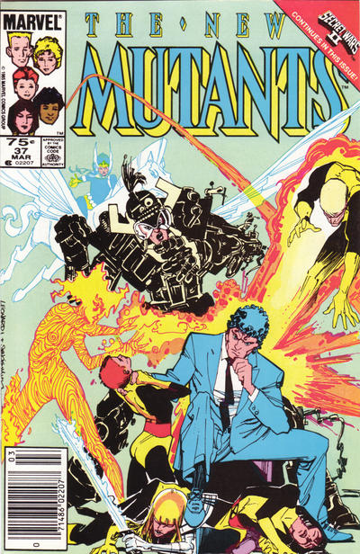 Cover for The New Mutants (Marvel, 1983 series) #37 [newsstand]