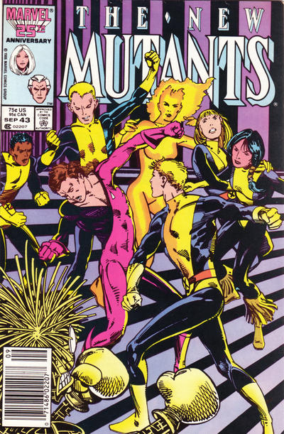 Cover for The New Mutants (Marvel, 1983 series) #43 [newsstand]