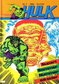 Cover Thumbnail for Hulk (Atlantic Forlag, 1980 series) #7/1984