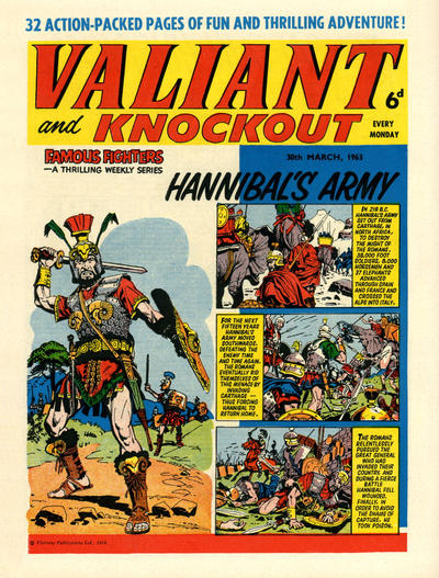 Cover for Valiant and Knockout (IPC, 1963 series) #30 March 1963