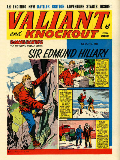 Cover for Valiant and Knockout (IPC, 1963 series) #1 June 1963