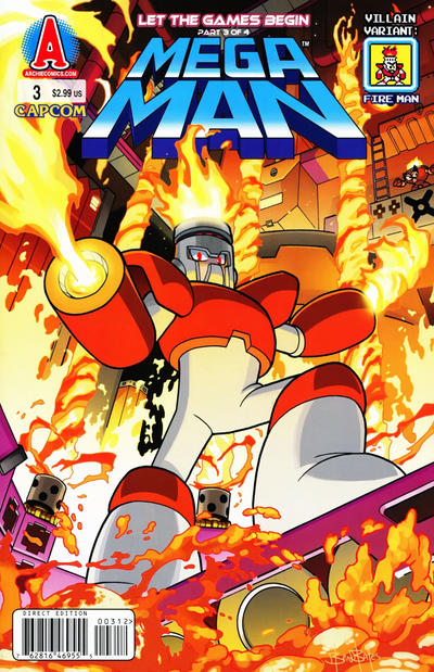 Cover for Mega Man (Archie, 2011 series) #3 [Fire Man Villain Variant by Ben Bates]