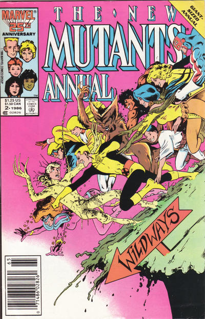 Cover for The New Mutants Annual (Marvel, 1984 series) #2 [direct]