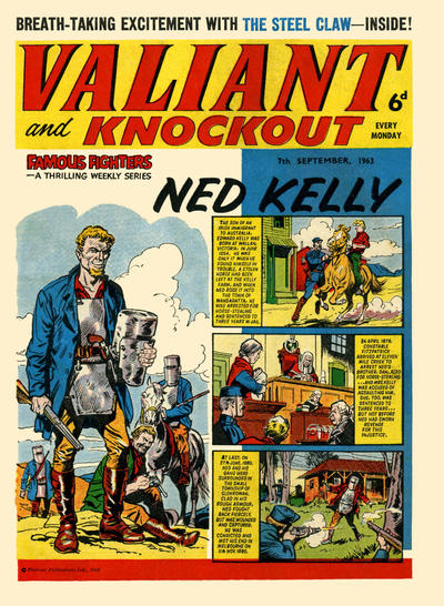 Cover for Valiant and Knockout (IPC, 1963 series) #7 September 1963