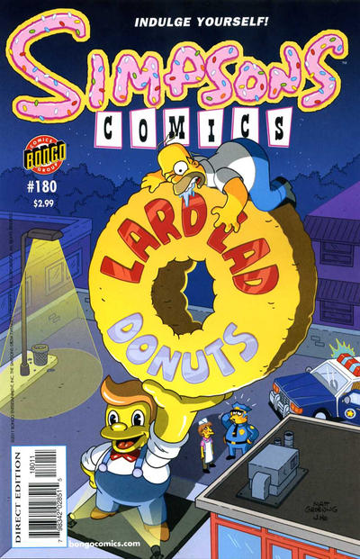 Cover for Simpsons Comics (Bongo, 1993 series) #180