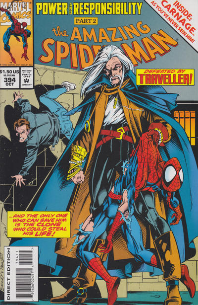 Cover for The Amazing Spider-Man (Marvel, 1963 series) #394 [Direct Edition]
