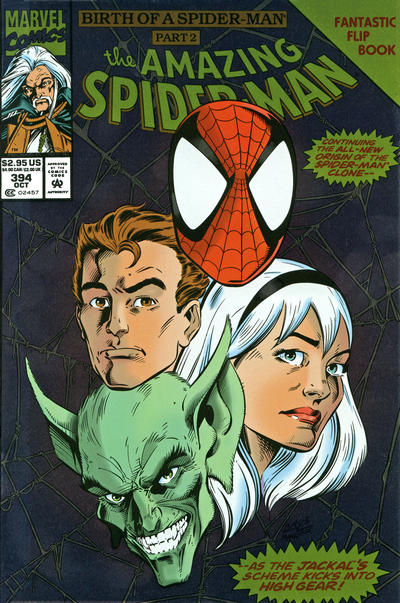 Cover for The Amazing Spider-Man (Marvel, 1963 series) #394 [Flipbook] [Newsstand Edition]