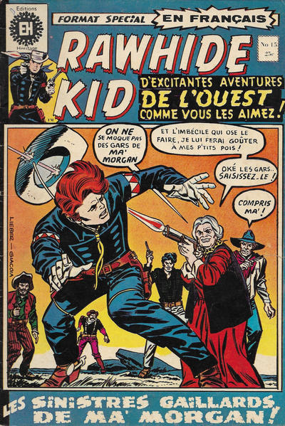 Cover for Rawhide Kid (Editions Héritage, 1970 series) #15