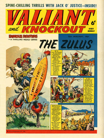 Cover for Valiant and Knockout (IPC, 1963 series) #25 January 1964
