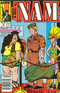 Cover Thumbnail for The 'Nam (Marvel, 1986 series) #15 [Newsstand Edition]