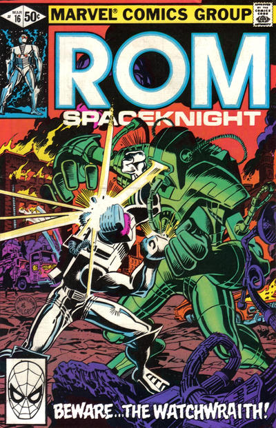 Cover for ROM (Marvel, 1979 series) #16 [Newsstand Edition]