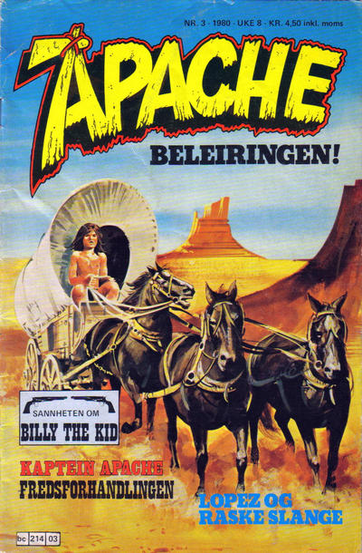 Cover for Apache (1980 series) #3/1980