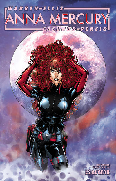 Cover for Anna Mercury (Avatar Press, 2008 series) #5