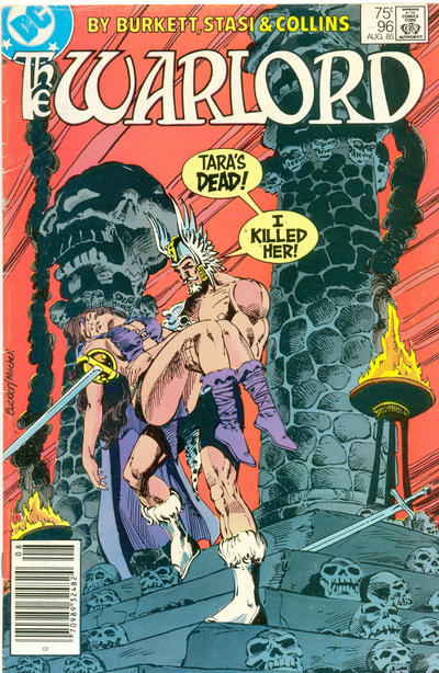 Cover for Warlord (DC, 1976 series) #96 [Newsstand Edition]
