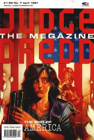 Cover for Judge Dredd the Megazine (Fleetway Publications, 1990 series) #7