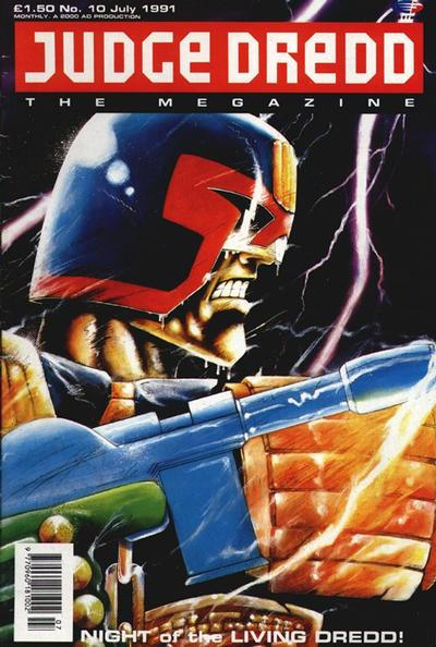 Cover for Judge Dredd the Megazine (Fleetway Publications, 1990 series) #10