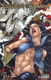 Cover for Lady Death vs Pandora (Avatar Press, 2007 series) #1 [Platinum Foil]