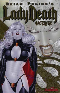 Cover Thumbnail for Brian Pulido's Lady Death: Sacrilege (Avatar Press, 2006 series) #0 [Gold Foil]
