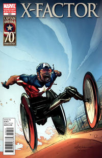 Cover for X-Factor (2006 series) #222 [I Am Captain America Variant]