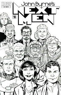 Cover Thumbnail for John Byrne's Next Men (IDW, 2010 series) #8 [RI Cover]