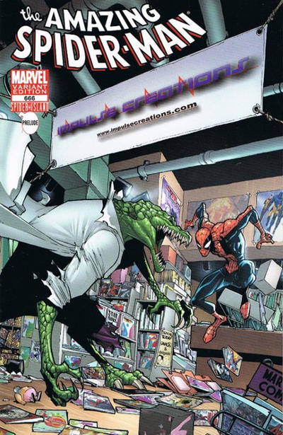 Cover for The Amazing Spider-Man (1999 series) #666 [Comic Swap Exclusive Bugle Variant Cover]