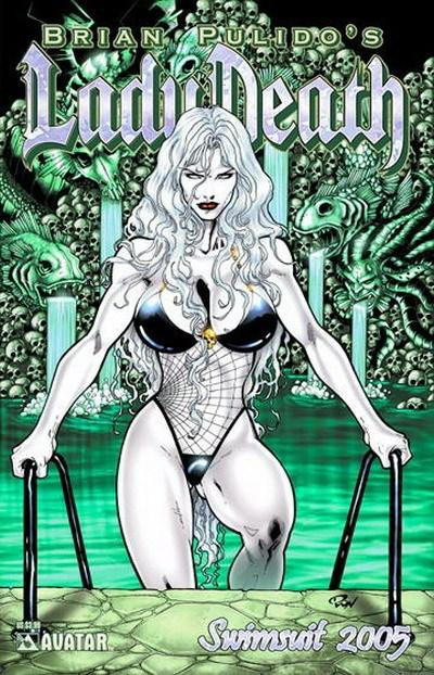 Cover for Brian Pulido's Lady Death: Swimsuit (2005 series) #2005 [Royal Blue]