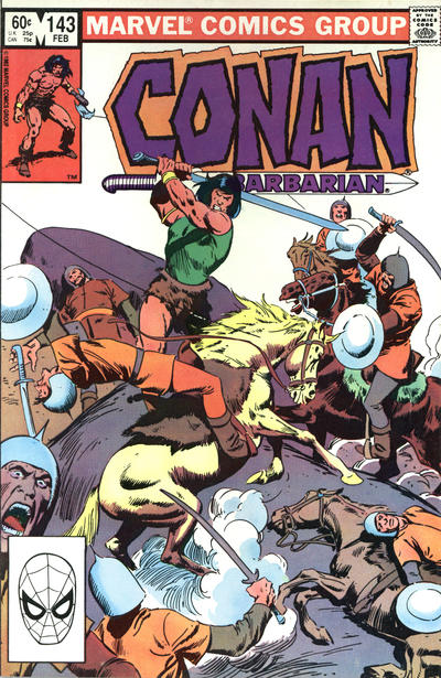 Cover for Conan the Barbarian (Marvel, 1970 series) #143 [Newsstand Edition]