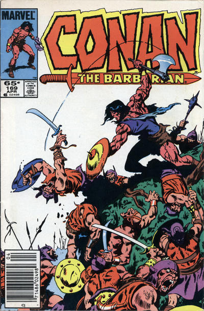 Cover for Conan the Barbarian (1970 series) #169 [Newsstand Edition]