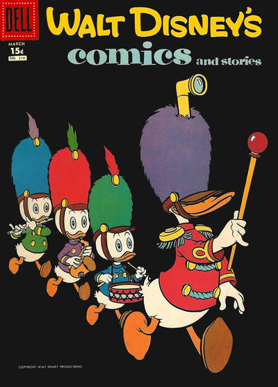 Cover for Walt Disney's Comics and Stories (Dell, 1940 series) #v18#6 (210)