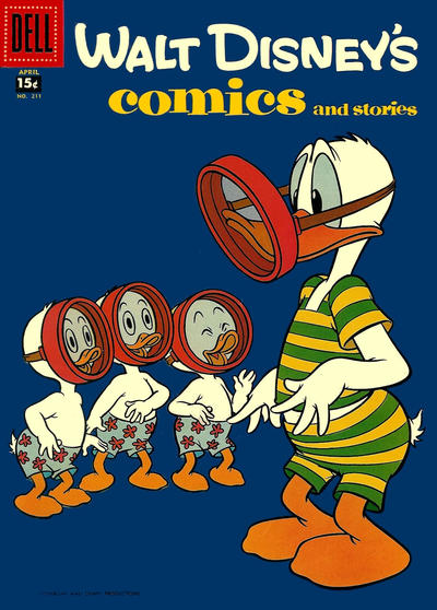 Cover for Walt Disney's Comics and Stories (Dell, 1940 series) #v18#7 (211)
