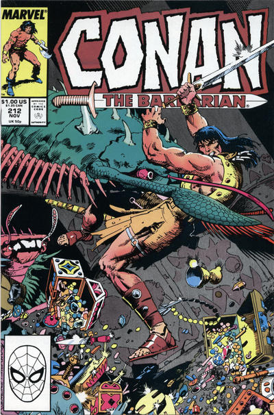 Cover for Conan the Barbarian (Marvel, 1970 series) #212 [Direct Edition]