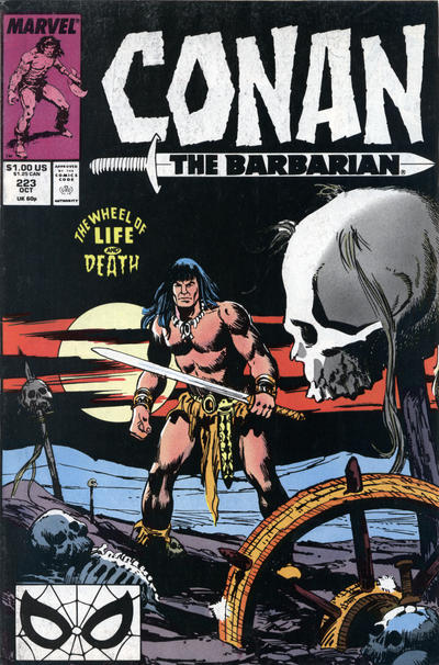 Cover for Conan the Barbarian (1970 series) #223 [Newsstand Edition]