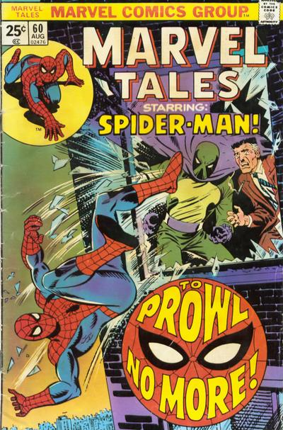 Cover for Marvel Tales (Marvel, 1966 series) #60