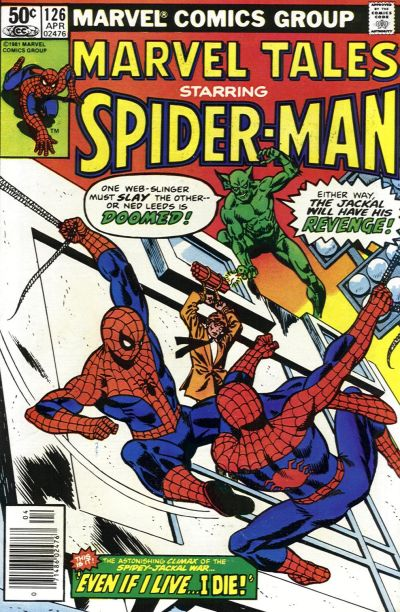 Cover for Marvel Tales (Marvel, 1966 series) #126