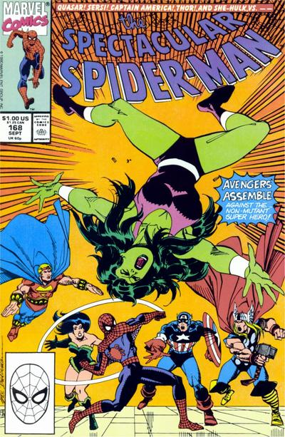 Cover for The Spectacular Spider-Man (Marvel, 1976 series) #168