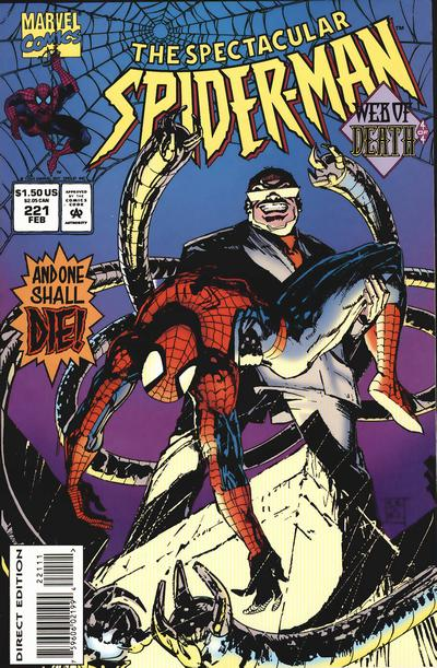 Cover for The Spectacular Spider-Man (1976 series) #221