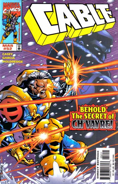 Cover for Cable (Marvel, 1993 series) #52 [Direct Edition]