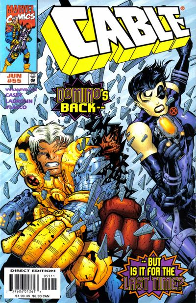 Cover for Cable (Marvel, 1993 series) #55 [Direct Edition]