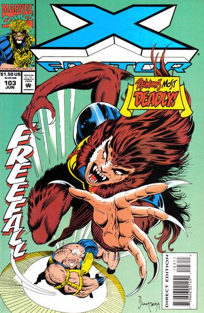 Cover for X-Factor (Marvel, 1986 series) #103 [Direct Edition]
