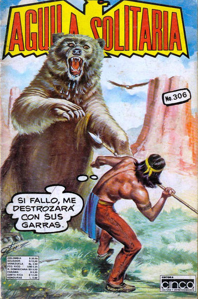 Cover for Aguila Solitaria (Editora Cinco, 1976 ? series) #306