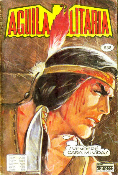 Cover for Aguila Solitaria (Editora Cinco, 1976 ? series) #638
