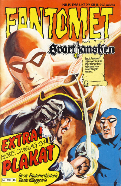 Cover for Fantomet (1976 series) #15/1985