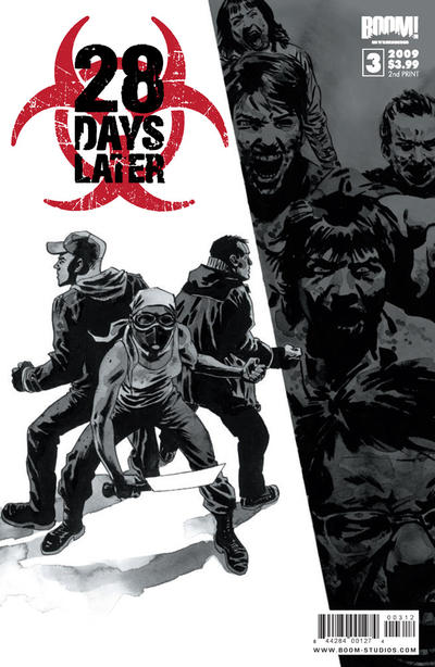 Cover for 28 Days Later (2009 series) #3 [2nd Print]